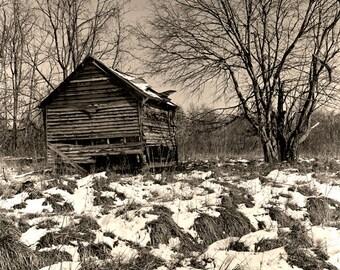 Landscape...Snow on the farm