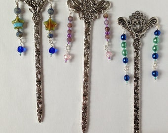 Bookmark. Ornate Silver Plated Bookmarks, Choice Of Three Styles.