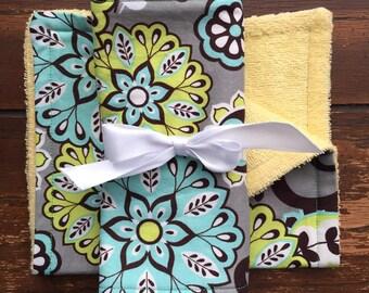 Pretty Paisley Burp Cloths - Set of 2