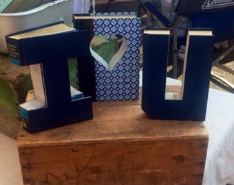 I <3 U!!! Custom Made Just For YOU!!!!  Created from actual Hardcover Books!!  Lots of colors and patterns available.