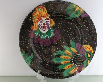 Decorative Mardi Gras Plate