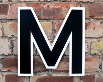 Large Vintage Letter Sign - Black & White
