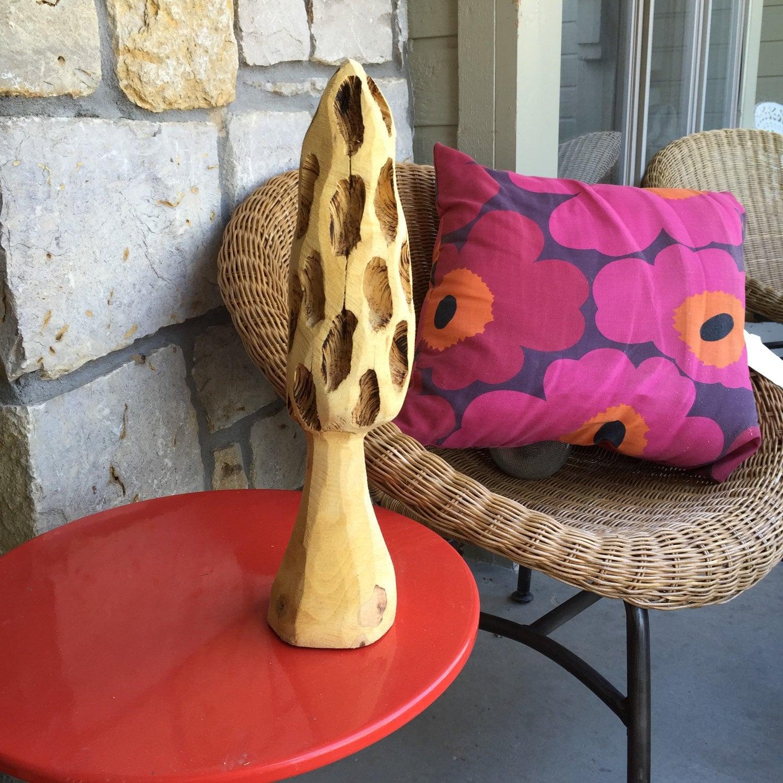 Morel mushroom honeytone by chainsawfolkart on etsy