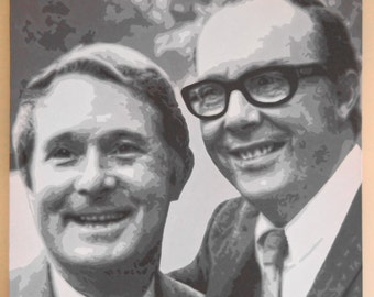 Morecambe and Wise Acrylic Painting on Box Canvas