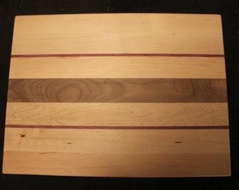 Maple/Purple Heart/Black Walnut Cutting Board
