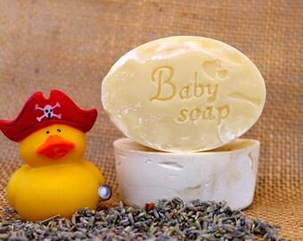Organic Handmade Lavender Baby Soap, Natural Soap, Lavender Essential Oil, Gentle Baby Soap, Baby Bath Soap, Organic Ingredients,Vegan Soap