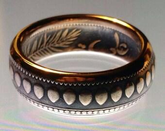 Bronze Tunisia 10 Centimes Coin ring