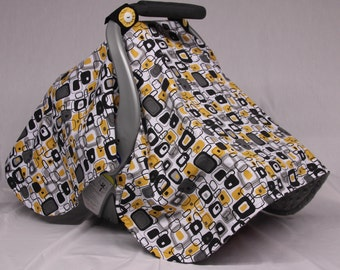 Baby Car Seat Canopy, Gender Neutral, Baby Shower Gift, Infant Car Seat Canopies,