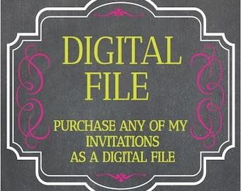 Digital File Of Any My Invitations