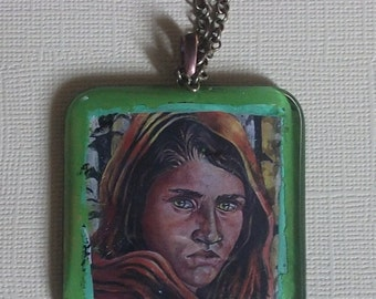Woman in the Woods  Pendant