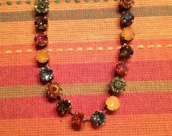 Swarovski colors of fall necklace
