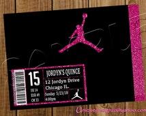 Jordan Shoe Box Birthday Invitation