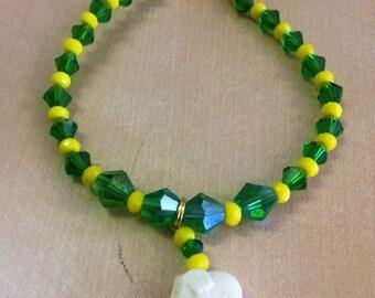 Orula/Orunmila Inspired Bracelet Santeria Yoruba ifa Orishas i Crystal