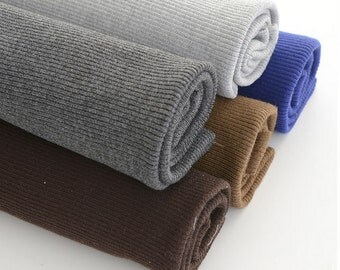 2X2 Ribbing for Cuffs, Neckbands, Hem for Overcoat or Down jacket. Poly and Spandex, Ribbing and Binding Knit - 33X7.8 inch/85X20cm