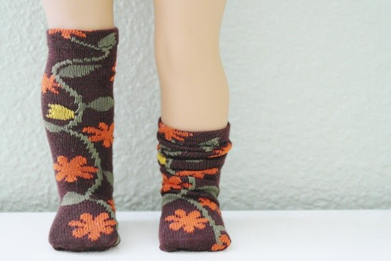 Past-the-Knee Fall Floral Socks