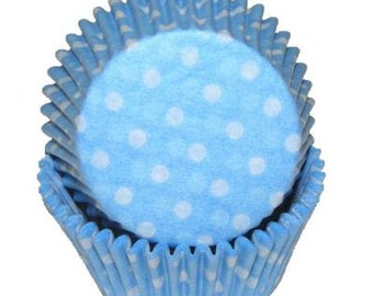 BLUE POLKA DOT Cupcake Papers