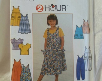 Simplicity 8048 Girls Dress, or Jumper, Jumpsuit  or Romper  Size 3-6