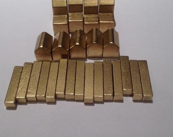 Settlers of Catan Custom Color Game Piece Set - Metallic Gold