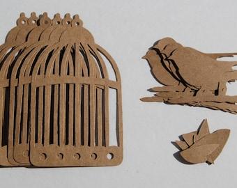 18 pieces Bird Cage Sizzix bigz die cuts Tim Holtz die cuts