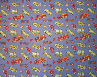 Baby Crib Sheet  or Toddler Bed Sheet with Vehicles