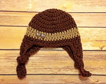 Crochet earflap hat [NEWBORN]