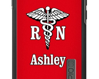 Monogrammed Incipio® DualPro® SHINE for iPhone 6 6 Plus 5/5S - RN Nurse Phone Case - Custom and Personalized