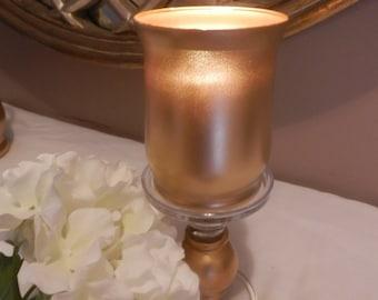 weddding centerpiece, gold wedding centerpiece, gold candle holder or flower vase