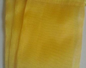 60 Yellow Organza Bags 4x 6 favor bags wedding packaging beads, herbs