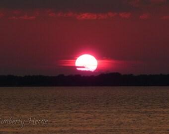Peaceful Evening Lake Champlain Vermont Digital Art Photography