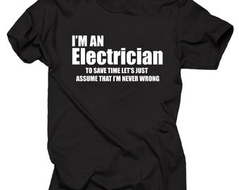 Electrician T-shirt Gift for Electrician Professional Lineman
