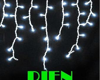 100 led curtains icicle lights Christmas windown Party deco.multicolorwhite blue Purple 3M 110V 220V  1pcs