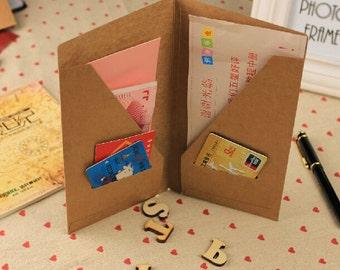 22*21 cm Vintage kraft paper business card holder Credit card/ID holder Portable check holders 30 pieces