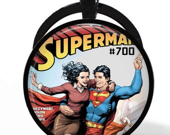 Superman & Lois Lane Comic Book Necklace or Keychain Pendant
