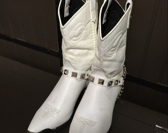 Vintage Never Worn 1980's Women's White Western Boots Size 9