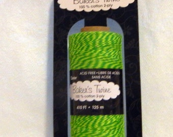 Baker's Twine by Darice  * GREEN/YELLOW
