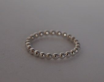 Modern Sterling Silver Wedding Ring/Ring/Stackable Ring