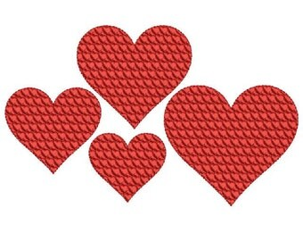 Heart Filled with Hearts Embroidery Design in 4 sizes - Instant Download
