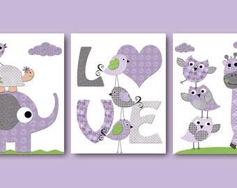 Digital Nursery Art Nursery Digital Print Printable Nursery Art Instant Download Art Kid Art Baby Girl Nursery Art Decor set of 3 8x10 11X14