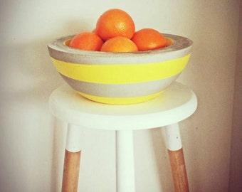 Concrete bowl, fruit bowl, plant bowl