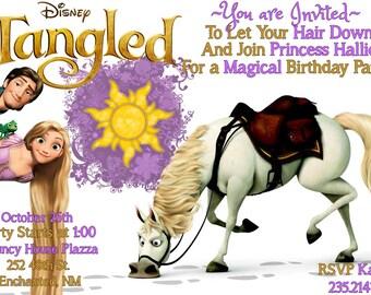 Tangled Birthday Invitation