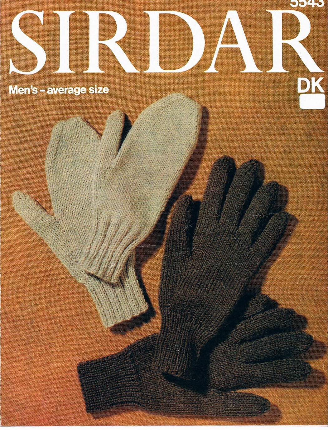 Mens gloves knitting pattern - This Is A Digital File