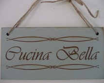 Popular items for kitchen wall plaque on etsy for Bella j cucina