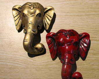 Elephant Kids Drawer Knobs Handle Dresser handle Home Decoration Art Handle Strong Adhesion /Art Decoration Cabinet Handles Vintage Hardware