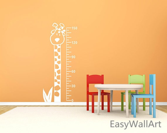 Giraffe Growth Chart Wall Decal, Giraffe Wall Decal, Growth Chart Decal for Nursery, Giraffe Ruler Stickers,Giraffe Wall Art Boy & Girl #A22