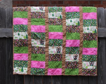 Hansel and Gretel Quilted Baby Blanket