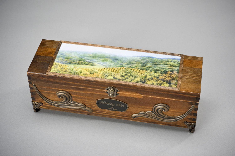 Wooden wine box gift box wedding wine box keepsake box
