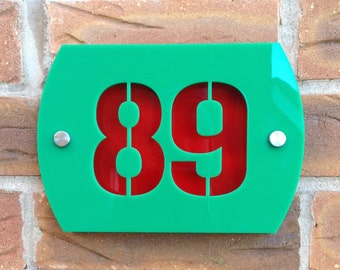 Modern Acrylic House Sign Stencil Number Text