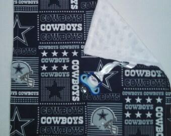 Cowboys Binky Blanket