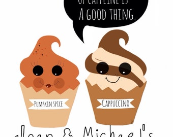 cupcake-Love-cupcake Art-print-cute wall decor-typography-humor prints- couples-kitchen- custom- personalize