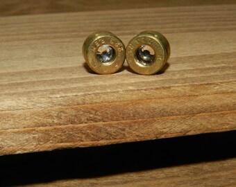 Bullet earrings, Crystal 223 caliber